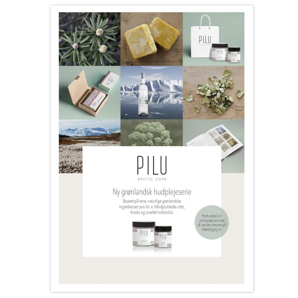 Grafisk design for Pilu Arctic care